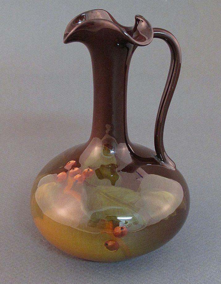 Artist signed Rookwood standard glaze ewer - Jeannette Swing