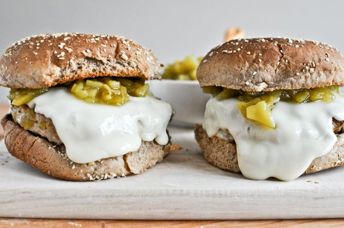 Green Chicken Chili Burgers | Cooking | Pinterest