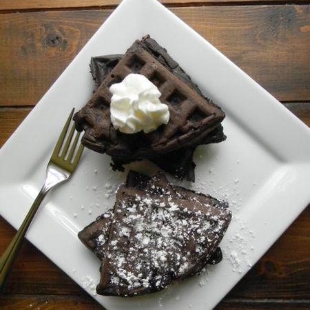 Chocolate Waffles | Mmmmm Food | Pinterest