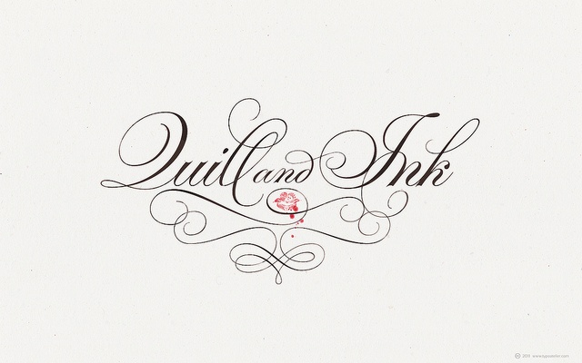 Quill And Ink Font TYPESENSES »Pa...