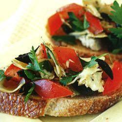 Artichoke and Olive Crostini @ allrecipes.com.au