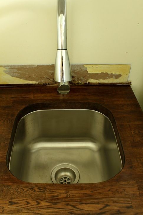 Undermount Sink Ikea : Undermount sink Ikea butcher block top DIY is a Way of Life Pinte ...