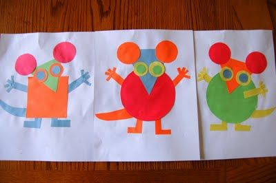 cute craft to go with the story Mouse Shapes (Ellen Stoll Walsh)
