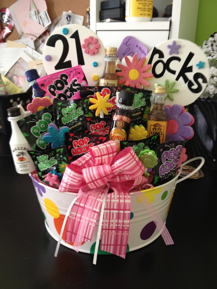 21st Birthday Boyfriend 21St Gift Idea Basket