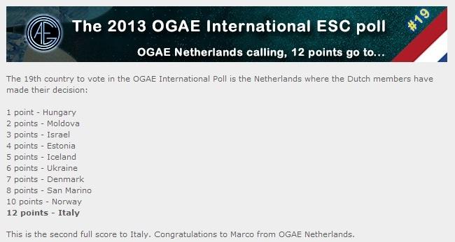 eurovision 2013 italy wiki