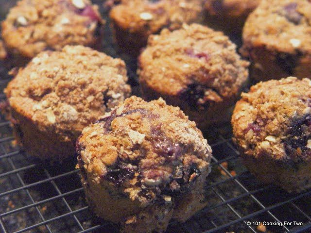 ... For Two - Everyday Recipes for Two: Whole Wheat Blueberry Muffins