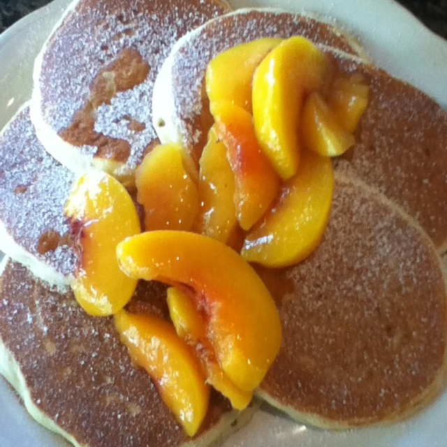 More like this: peach pancakes , pancakes and peach .