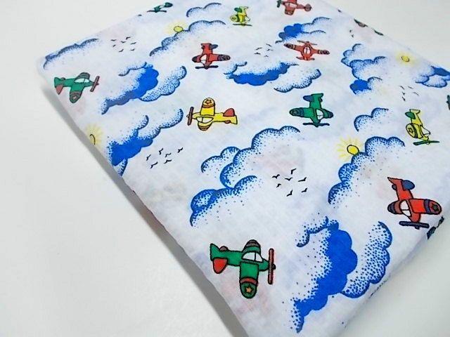 Kids airplane print fabric cotton fabric wamsutta for Childrens airplane fabric