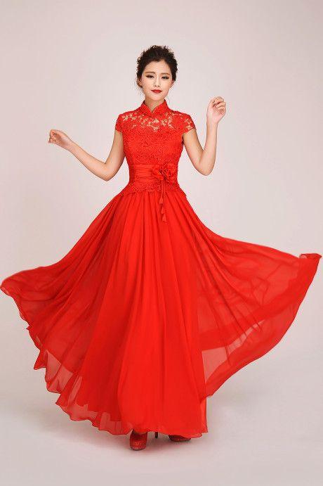 Red Wedding Dress Wedding Inspirations
