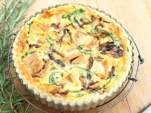 Rosemary Infused Tuna and Caramelised Onion Quiche - Recipes - Sirena ...