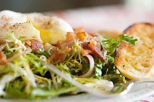 Frisee and Lardon Salad with Poached Egg | The Table - Salads | Pinte ...