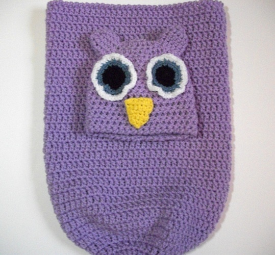 Crochet Owl Baby Cocoon : Crocheted Owl Cocoon for Baby is going up for auction at 4pm Thu ...