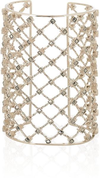 Goldplated Swarovski Crystal Cuff