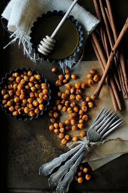 Cinnamon and Honey Roasted Chickpeas | foods i pretend i'll make | Pi ...