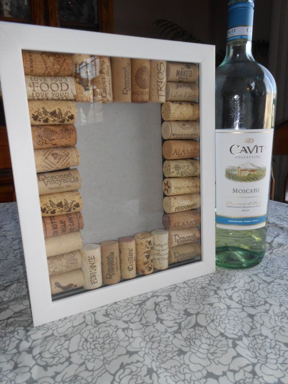 Wine Cork Picture Frame by JustChalkAboutIt on Etsy, $18.00