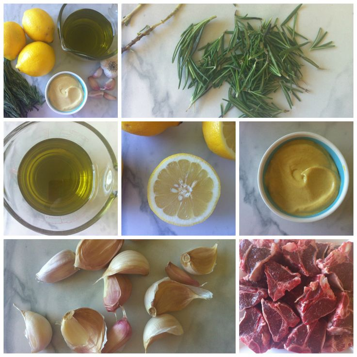 Grilled Rosemary Lamb Chops...fresh rosemary, lemon, garlic, mustard ...