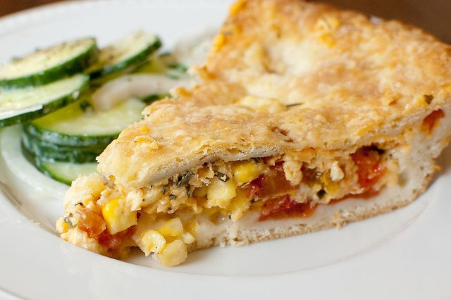 Tomato and Corn Pie DSC_5810 by Pink Parsley Blog, via Flickr
