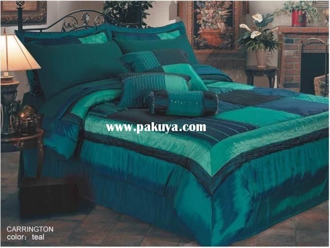 Solid dark purple bedding - King Comforter Set Teal Turquoise And Teal Pinterest