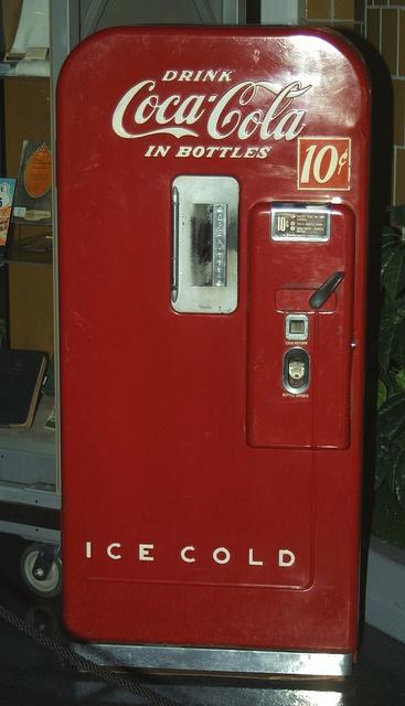 antique coke vending machine