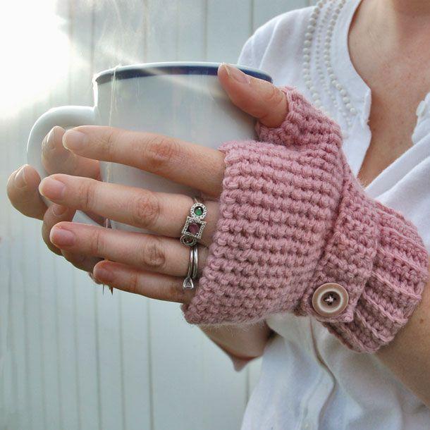 Crocheting Fingerless Gloves : Crocheted Fingerless Gloves CROCHET Gloves, Mittens, Cuffs ...