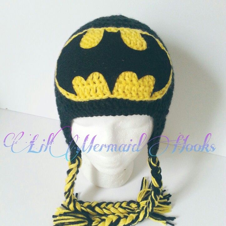 Crochet Pattern Batman Hat Pakbit For