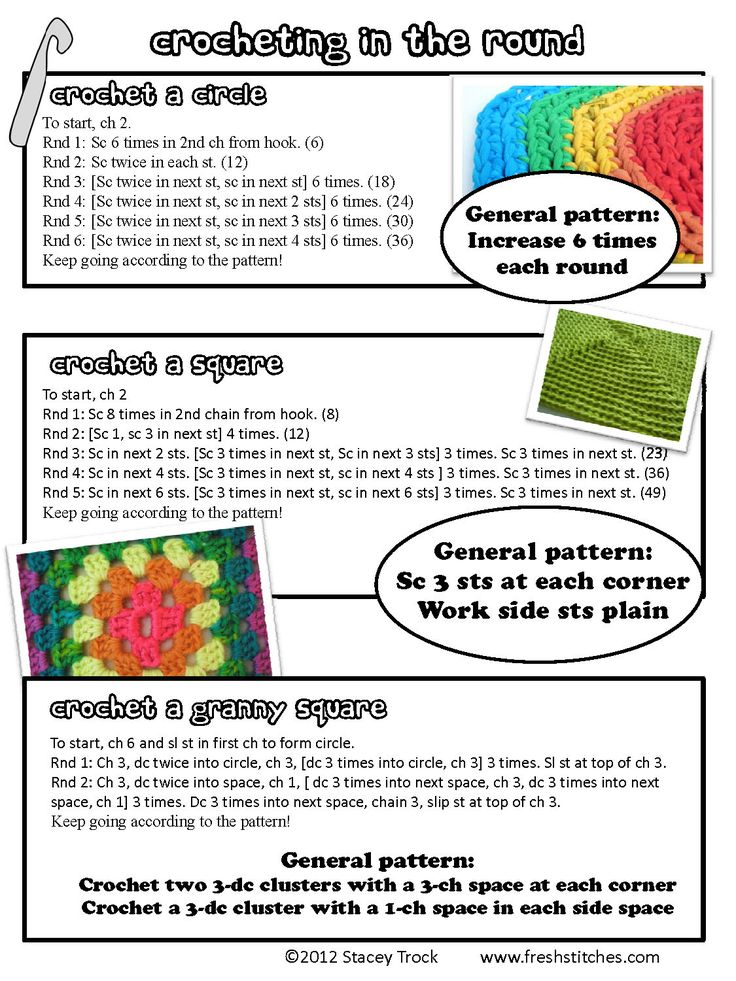 Crochet Stitches In The Round : Patterns for crocheting in the round Crochet Pinterest