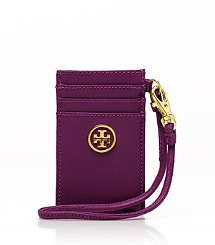 Tory Burch Robinson Card Wristlet, pretty violet