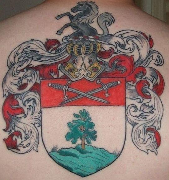 english coat of arms tattoo - photo #25