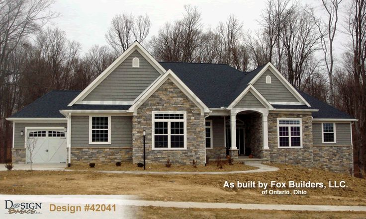 French country i ii front elevation joy studio design for French country elevations