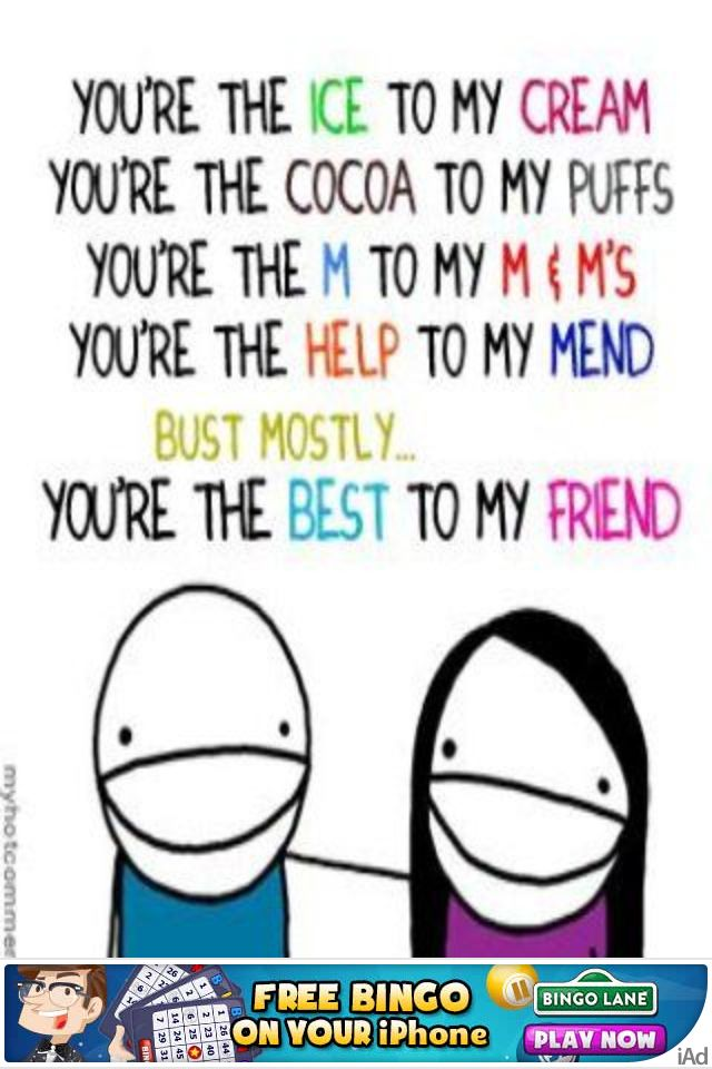Cute BFF quote  Awesome quotes  Pinterest