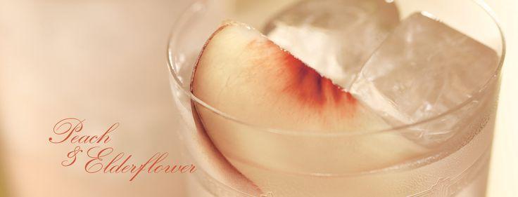 Peach & Elderflower Collins: 2 oz Bombay Sapphire, Juice of half a ...