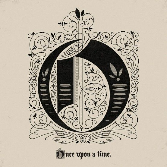 Once upon a time fonts typography letters calligraphy
