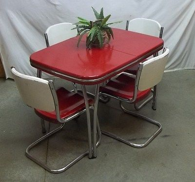 50s arvin metal table chair dining room dinette set lawn patio kitchen