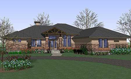 Spacious Prairie Style Home Plan
