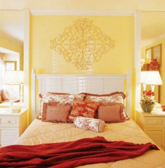 Yellow Red Bedroom For The Home Pinterest