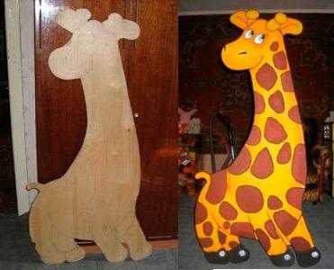 Животные из фанеры для детского сада