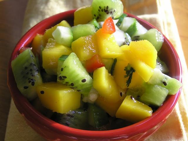 kiwi cuke mango salsa   Heavenly Treats   Pinterest