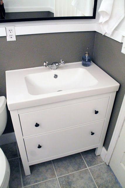 Hemnes sink cabinet home sweet home pinterest - Installation salle de bain ikea ...