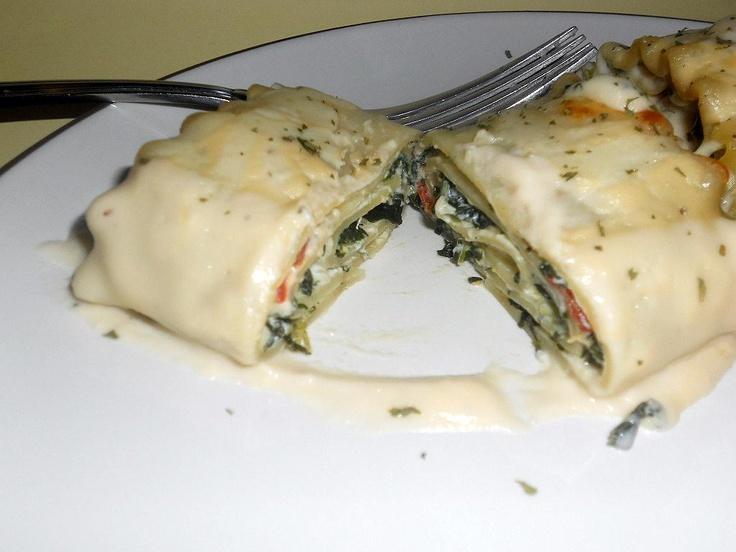 Spinach Lasagna Rolls: | Yummy Foods | Pinterest