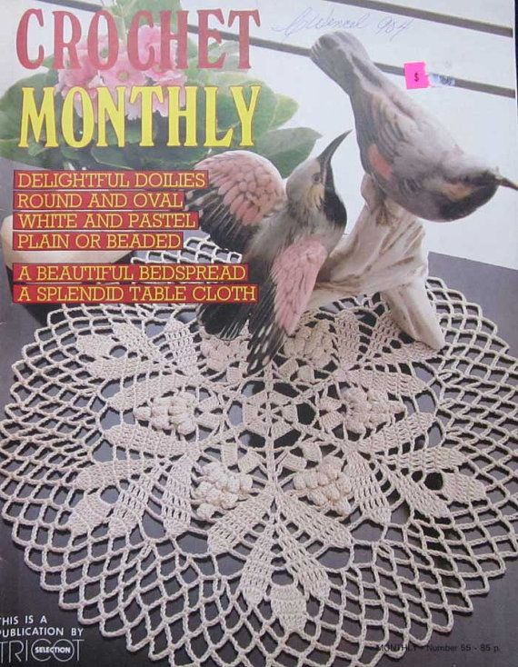 Crochet Monthly Magazine : Vintage Crochet Monthly Doilies Pattern Magazine by TheHowlingHag, $5 ...