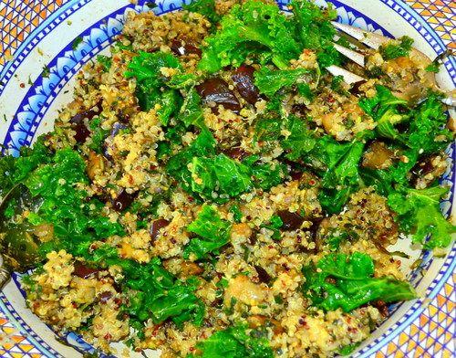 Eggplant, Kale, Quinoa and Pesto   Side dishes   Pinterest