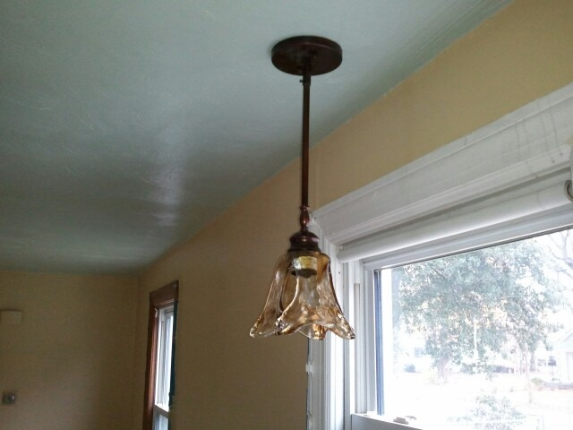 pendant light over the sink from lowed