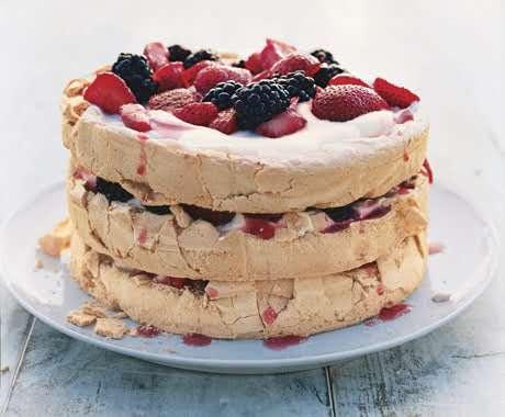 Three-Layer Berry and Brown Sugar Pavlova   Recipe