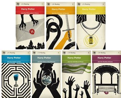 Redesigned Harry Potter book covers