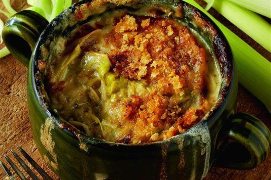 Leek hot pot - interesting as a dip for a dinner party