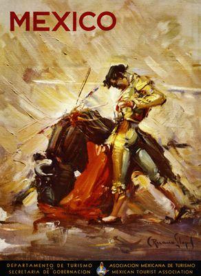 Vintage Matador II Bullfighting Giclee Art Print