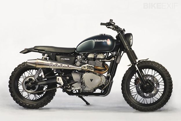 """If you were taken with the Triumph Tridays """"Rumbler""""—and it was one of the most popular bikes we've shown so far this year—then JvB-moto's """"Dirty Deeds"""" is the bike for you."""