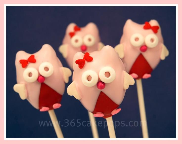 Cake Pop Designs Valentines Day : Valentine owl cake pops Valentine s Day Pinterest