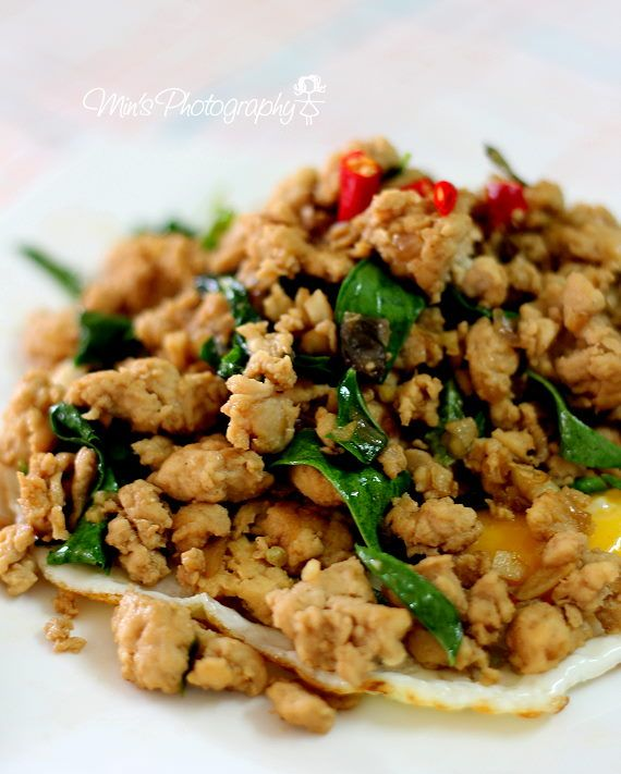 ... Blog: 泰式罗勒鸡肉碎 Stir Fry Basil Chicken (Gai Pad Krapow