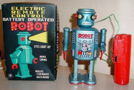 Vintage Robot & Box